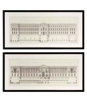 Постер La Facade Du Louvre набор из 2 Eichholtz 106540