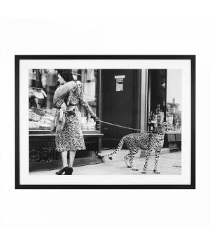 Постер Elegant Woman with Cheetah Eichholtz 111749