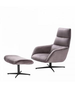 Вращающееся кресло и Оттоманка Nautilus Eichholtz 112062